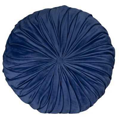 Behixhe Tufted Round Velvet Pillow Cover & Insert - Wayfair