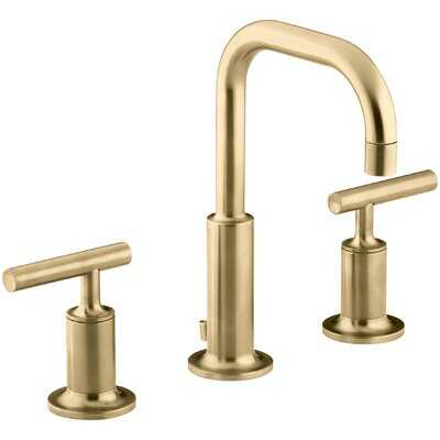 Purist Widespread Faucet with Drain Assembly Low Lever Handles and Low Spout - AllModern