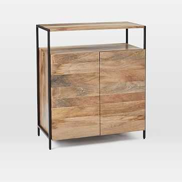 Industrial Storage Small Cabinet, Mango, Blackened Steel - West Elm