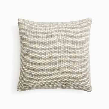 """Two Tone Chunky Linen Pillow Cover, 20""""x20"""", Natural, Set of 2 - West Elm"""