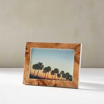 """Burled Wood Frame, Tabletop Frame, Natural, 4""""x6"""" - West Elm"""