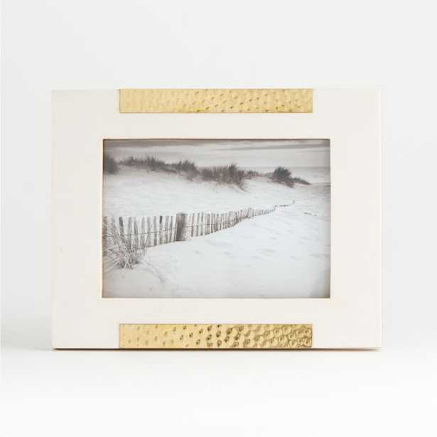Mona White/Gold Frame 5x7 - Crate and Barrel