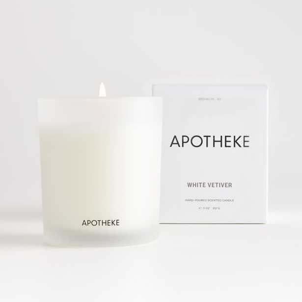 Apotheke White Vetiver Boxed Candle - Crate and Barrel