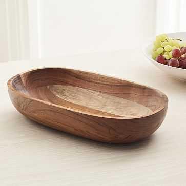 Hudson Rounded Fruit Bowl Dark Acacia - West Elm