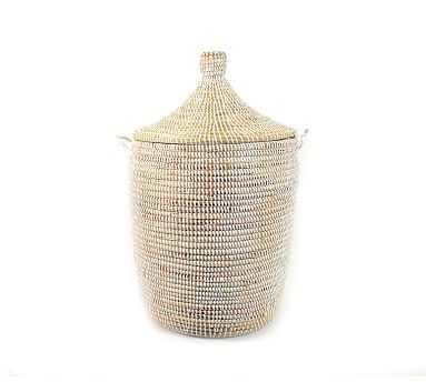 Tilda Woven Basket, White - Medium - Pottery Barn