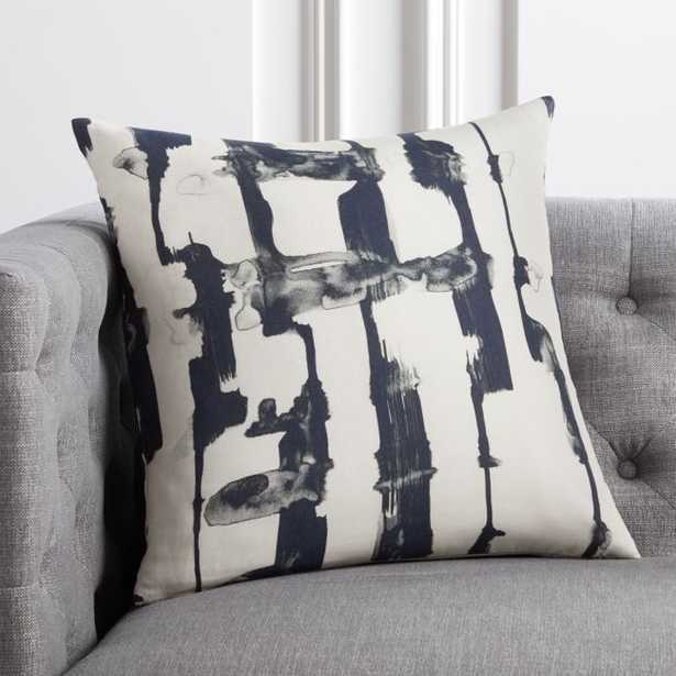 """18"""" Xray Black and White Pillow with Down-Alternative Insert - CB2"""