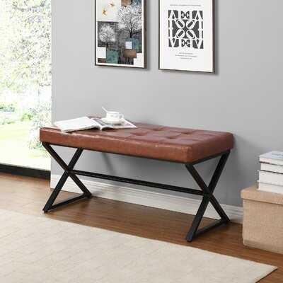 Cloninger Faux Leather Bench - Wayfair
