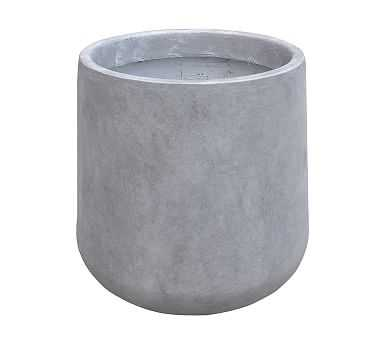 Axel Lightweight Concrete Footed Tulip Planter, Large - Pottery Barn
