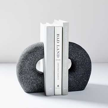 Lava Rock Bookends, Anchor Gray, Set of 2 - West Elm