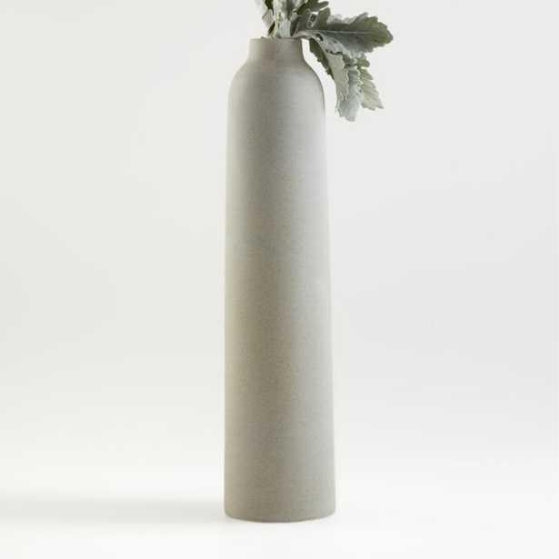 Rhonna Grey Ceramic Vase - Crate and Barrel