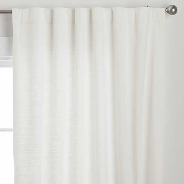 "Cotton Linen Semi-Sheer Curtain Set of 2, White, 44"" x 84"" - Pottery Barn Teen"