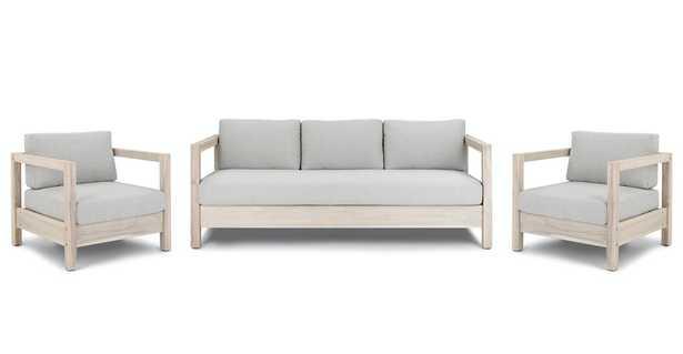 Arca Driftwood Gray Sofa Set - Article