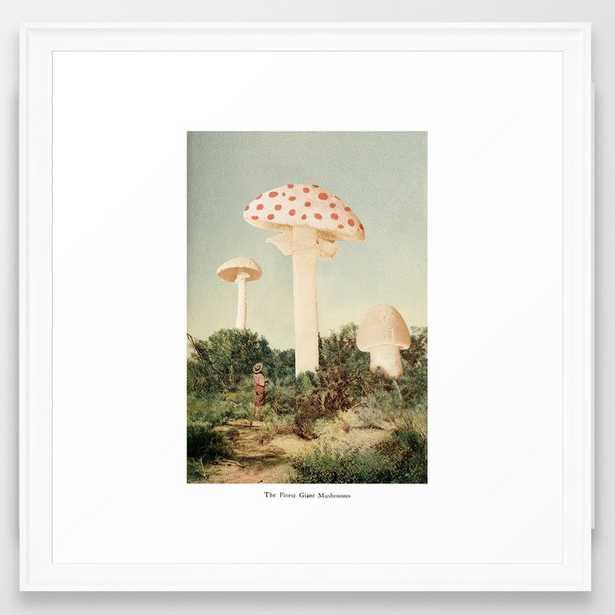 The Finest Giant Mushrooms Framed Art Print by Florent Bodart / Speakerine - Scoop White - MEDIUM (Gallery)-22x22 - Society6