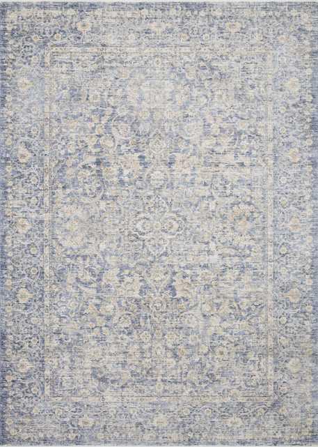 "Loloi Pandora PAN-01 Blue / Gold 5'-0"" x 8'-0"" - Loma Threads"