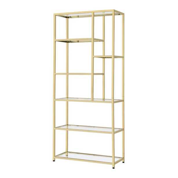 """Safavieh Couture Alessandra 90.6"""" H x 39.4"""" W Iron Etagere Bookcase - Perigold"""