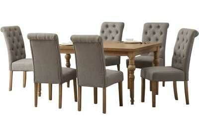 Atticus 7 Piece Solid Wood Dining Set - Wayfair