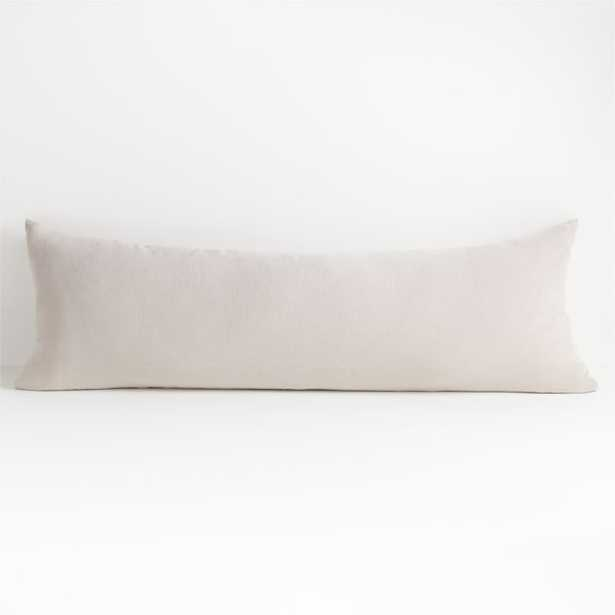 """Vintage Natural 54""""x20"""" Body Pillow with Down-Alternative Insert - Crate and Barrel"""