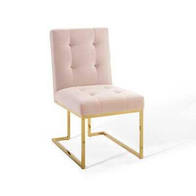 Lorrie Velvet Upholstered Side Chair - Wayfair