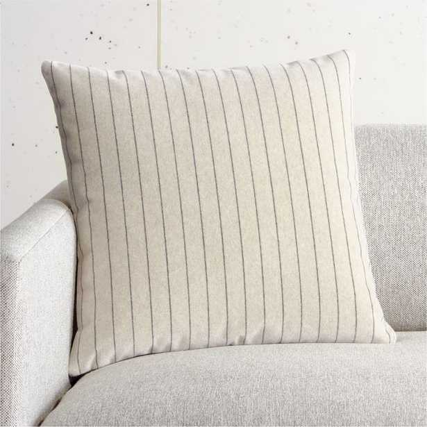"""18"""" Boundary Ivory Pillow with Down-Alternative Insert - CB2"""