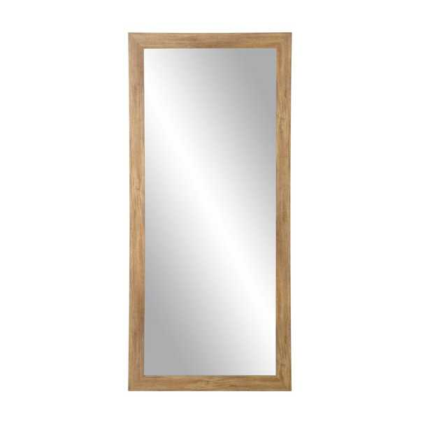 Blonde Barnwood Full Length Floor Wall Mirror - Home Depot