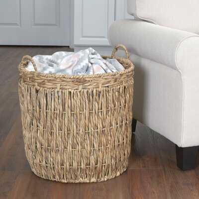 Tall Round Floor Wicker Basket - Wayfair