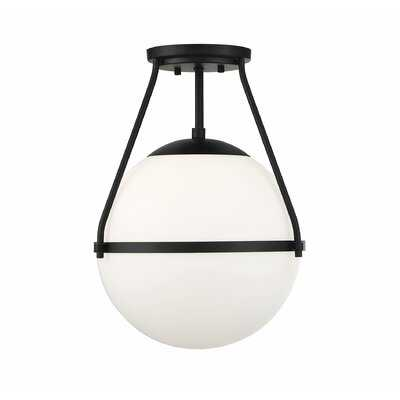 "Amirah 1 - Light 13"" Simple Globe Semi Flush Mount - AllModern"
