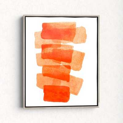 Framed Painting Print on Canvas in Orange - AllModern