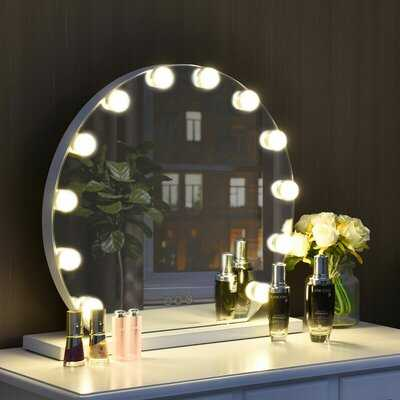 Antigone Makeup Touch Screen Hollywood Bathroom/Vanity Mirror - Wayfair