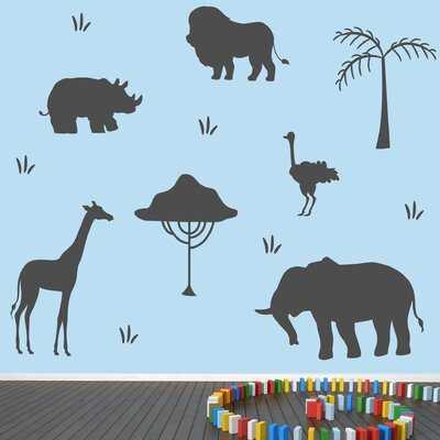 African Safari Animals Wall Decal - Wayfair