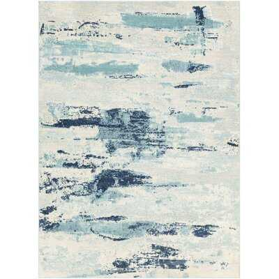 Seward Dark Blue/Aqua Area Rug - Wayfair