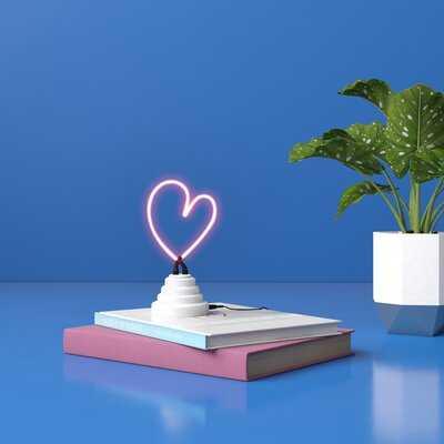 Heart Tabletop Neon Sign - Wayfair