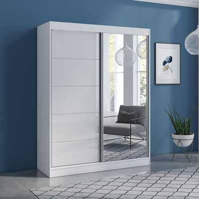 Neillsville 2 Door Modern High Gloss Armoire - Wayfair