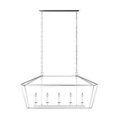 Five Light Medium Linear Chandelier - Wayfair