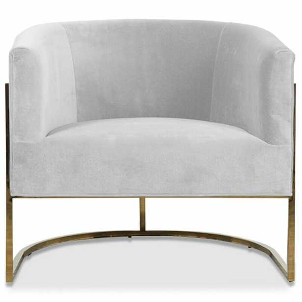 Lisbon Barrel Chair Upholstery: Sharkskin - Perigold