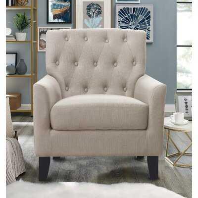 """Rosas 30"""" W Tufted Polyester Armchair - Wayfair"""