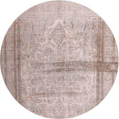 Contemporary Beige/Palm Pink Area Rug - Wayfair