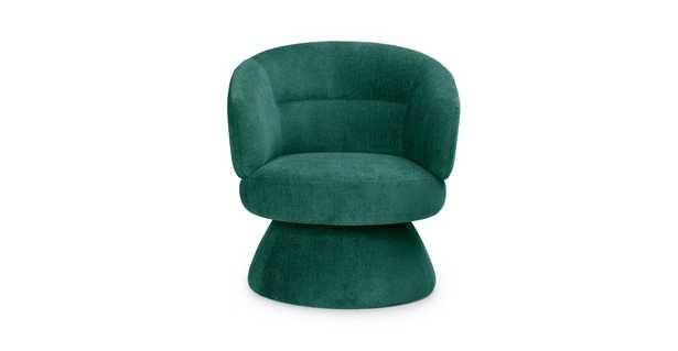Makeva Poplar Green Swivel Chair - Article