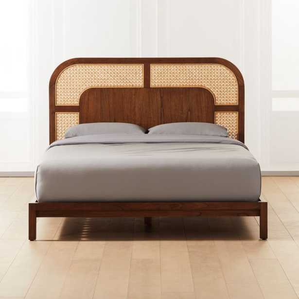 Nadi Cane Queen Bed - CB2