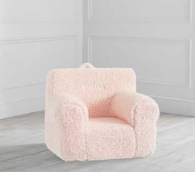 My First Blush Cozy Sherpa Anywhere Chair(R) - Pottery Barn Kids