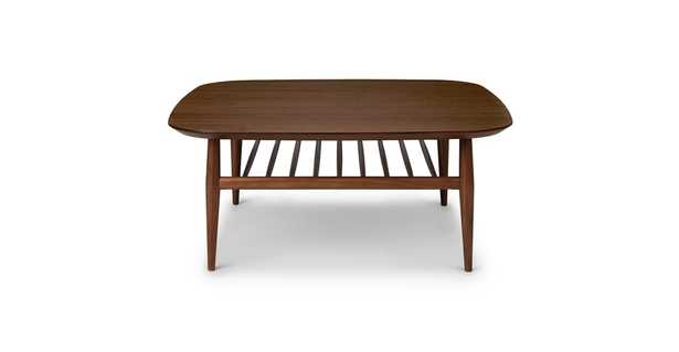 Lenia Walnut Square Coffee Table - Article