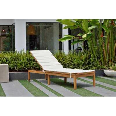 Olinda Reclining Chaise Lounge with Cushion - AllModern