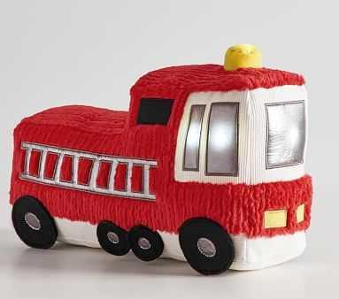 Fire Truck Light-Up Plush - Pottery Barn Kids