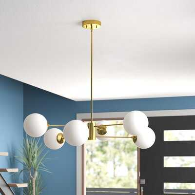 Nyla 6-Light Sputnik Linear Chandelier - AllModern