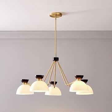 Hourglass Chandelier, Bronze + Brass - West Elm