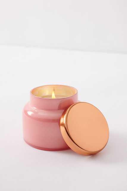 Capri Blue Mini Glass Jar Candle By Capri Blue in Pink - Anthropologie