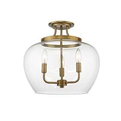 "Enciso 3 - Light 15.75"" Chandelier Style Bell Semi flush mount - Wayfair"