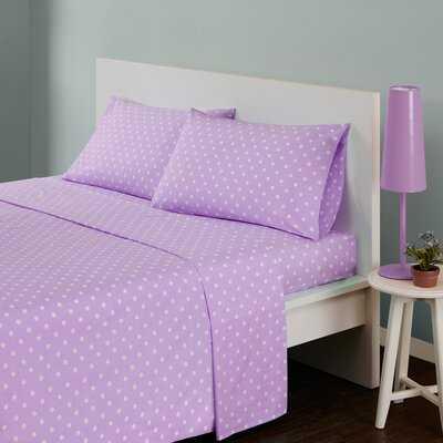 Glaude Polka Dot 180 Thread Count Cotton Sheet Set - Wayfair