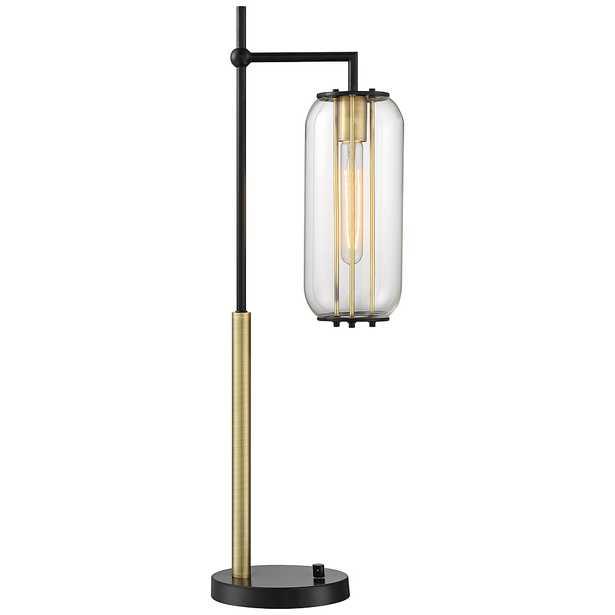 Lite Source Hagen Black and Antique Brass Desk Lamp - Style # 87K34 - Lamps Plus