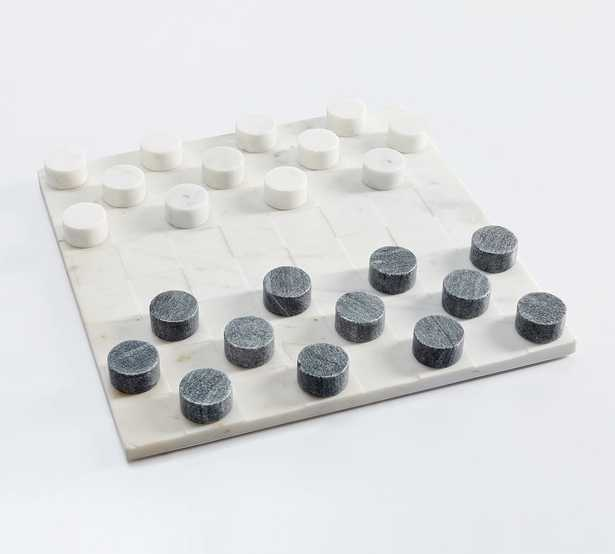 Handcrafted Marble Checkers Board Game - Pottery Barn