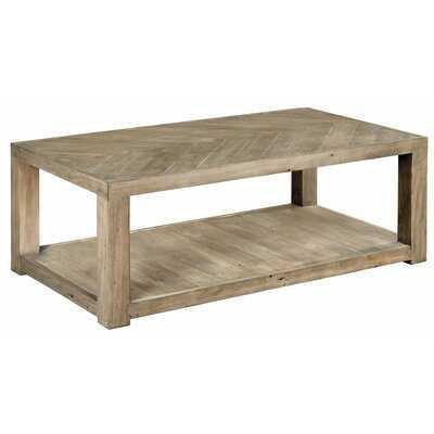 Wesley Solid Wood Floor Shelf Coffee Table - Wayfair